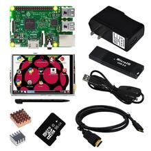 Discount! Raspberry Pi 3 Model B Board +3.5 TFT Touch Screen +Clear Case + 2pcs Heat Sink + 16GB TF Card  + Power Supply 2.5a(EU OR US)