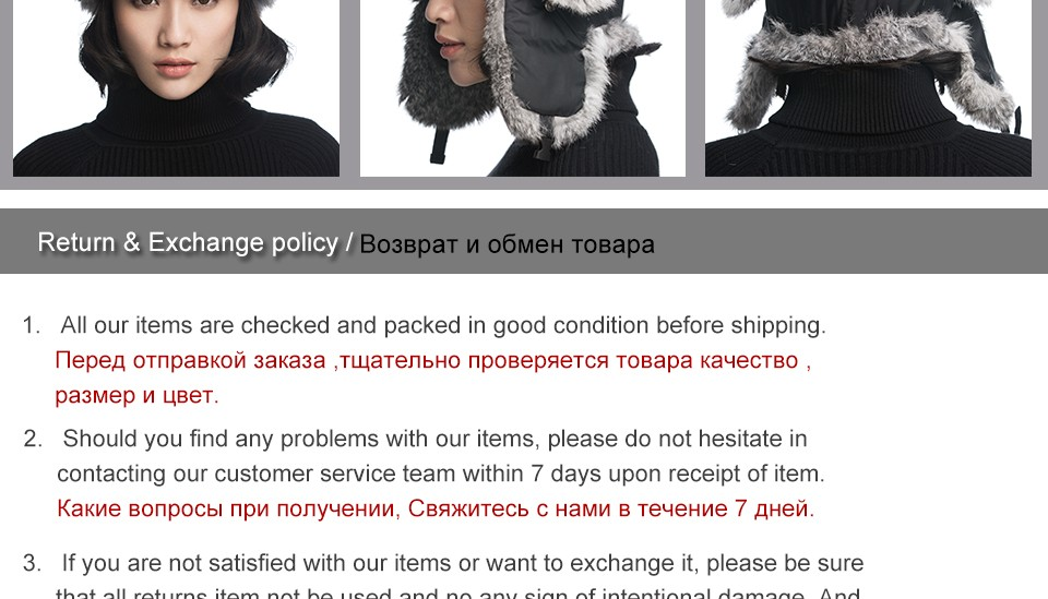URSFUR Ushanka Hats for Women with Real Rabbit Fur Cap Ladies Russian Trapper Caps Ear Flap Aviator Hat Gift