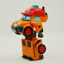 Aocoren anak mainan 2 pcs/set bucky mark transformasi robocar poli robot mainan korea mainan anime aksi angka mainan untuk anak