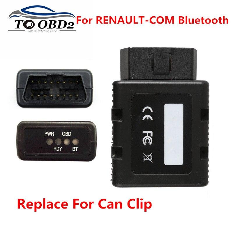 Livraison gratuite pour RENAULT-COM Bluetooth OBD2 Interface de programmation de Diagnostic pour les véhicules Renault remplacer pour Renault peut Clip