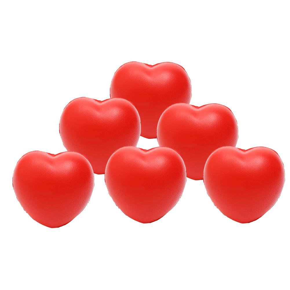 New 12Pcs Soft Foam Love Heart Squeeze Stress Relief Toys Kids Anti Pressure Gift