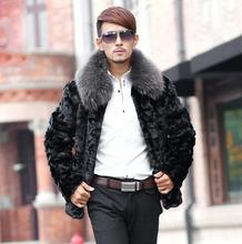 2019 new winter mens faux mink fur coats thicken warm overcoat leather jackets and collar fashion black S - 6XL