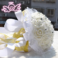 Cream Elegant Handmade Beading Artifical Flower Wedding Decoration of Wedding Bouquet Wedding Flowers Bridal Bouquets