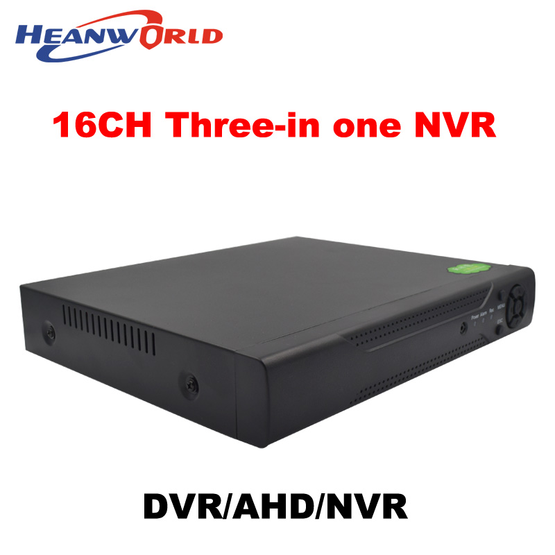 Hot selling 16CH Hybrid AHD DVR 3 in 1 recorder 1080P/960P NVR HVR Support For 2.0MP 1080P AHD Camera and IP camera system hot selling imp nvr 8036k with 9hdd