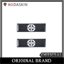 KODASKIN Motorcycle 3D Carbon Timing Belt Cover Front and Rear Round Decal for Kawasaki H2 h2