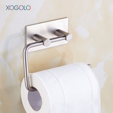 Xogolo Stainless Steel 304 Sturdy Modern Style Wall Mounted Stickers Kitchen Bathroom Toilet Paper Holder Roll Holder