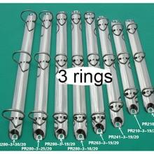 A4 A5 3 holes Binder Rings 205 210 240 262 280 292 metal binder clip mechanism silver black gold