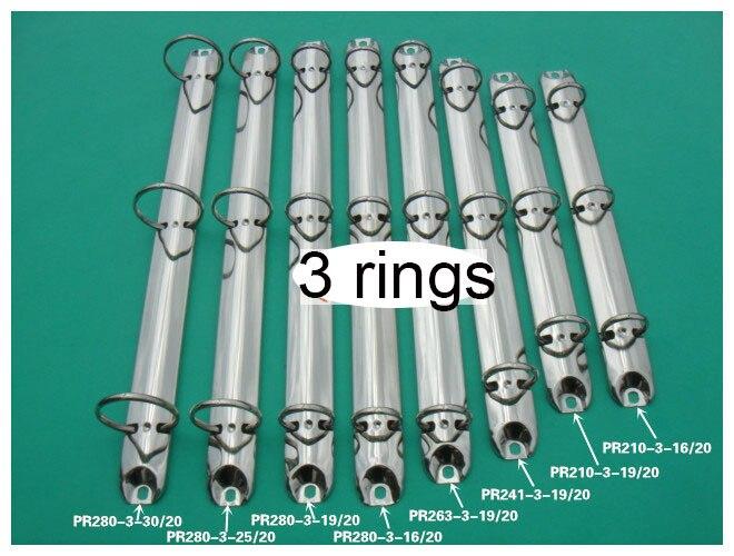 A4 A5 3 trous Reliure à Anneaux 205 210 240 262 280 292 agrafe en métal de mécanisme