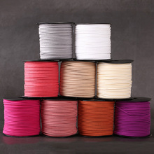 5Meter/Lot Flat Faux Suede Korean Velvet Leather Cord DIY Lace Rope Thread For Jewelry Making Decorative Handicrafts Accessories