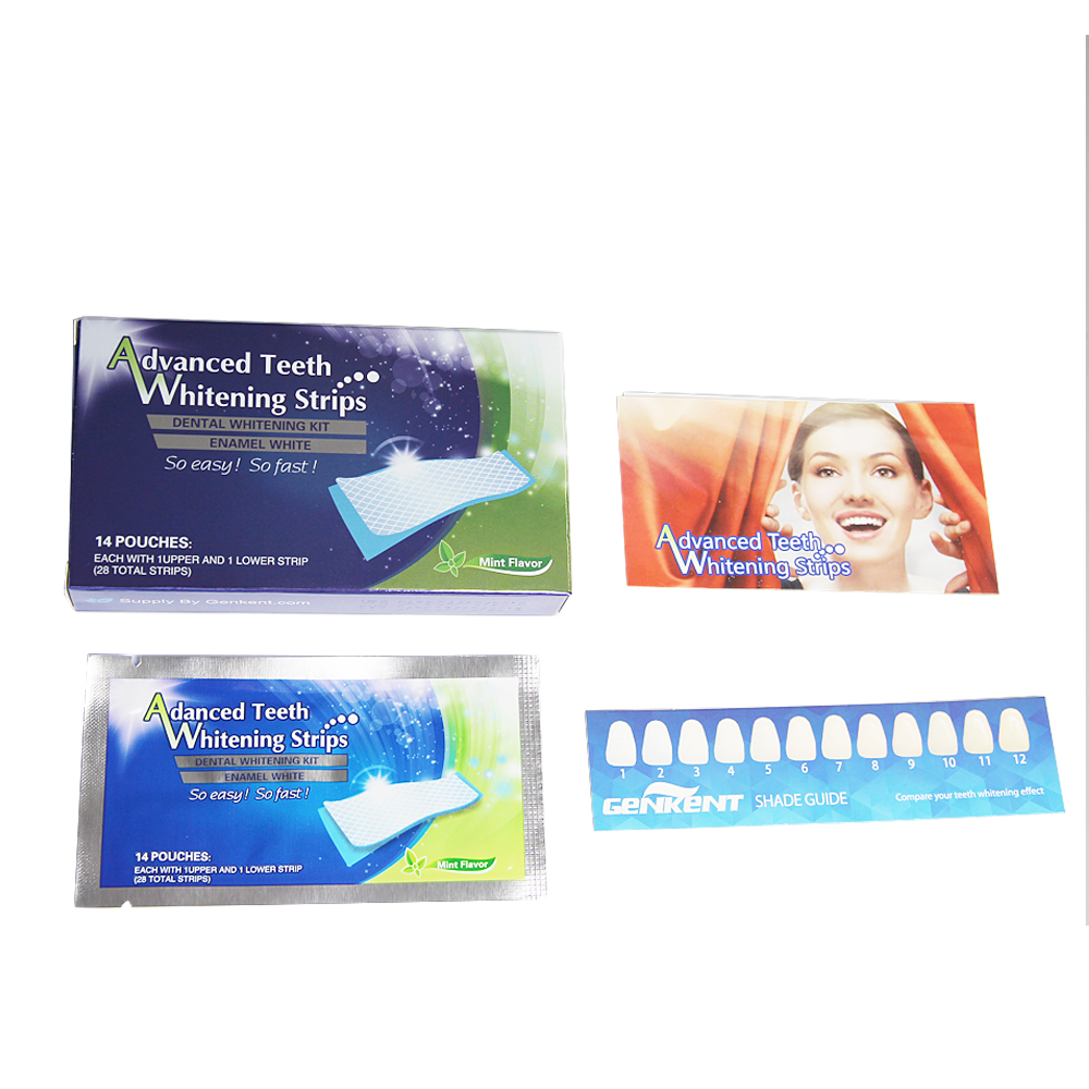 Genkent 14 Pairs Advanced Teeth Whitening Strips Gel Care Oral