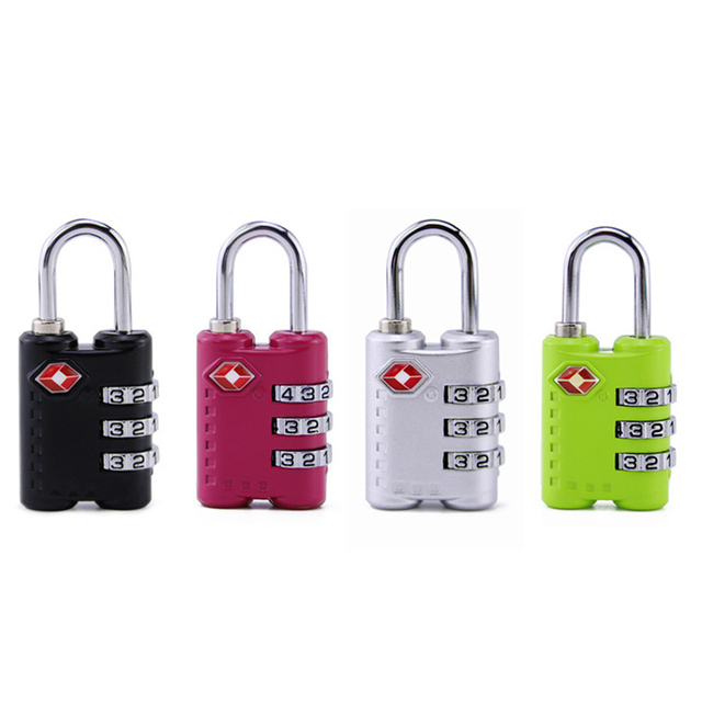 3 Digit Number Cabinet Code Lock Combination Lock For Suitcase Backpack Padlock Outdoor travel fitness anti-theft