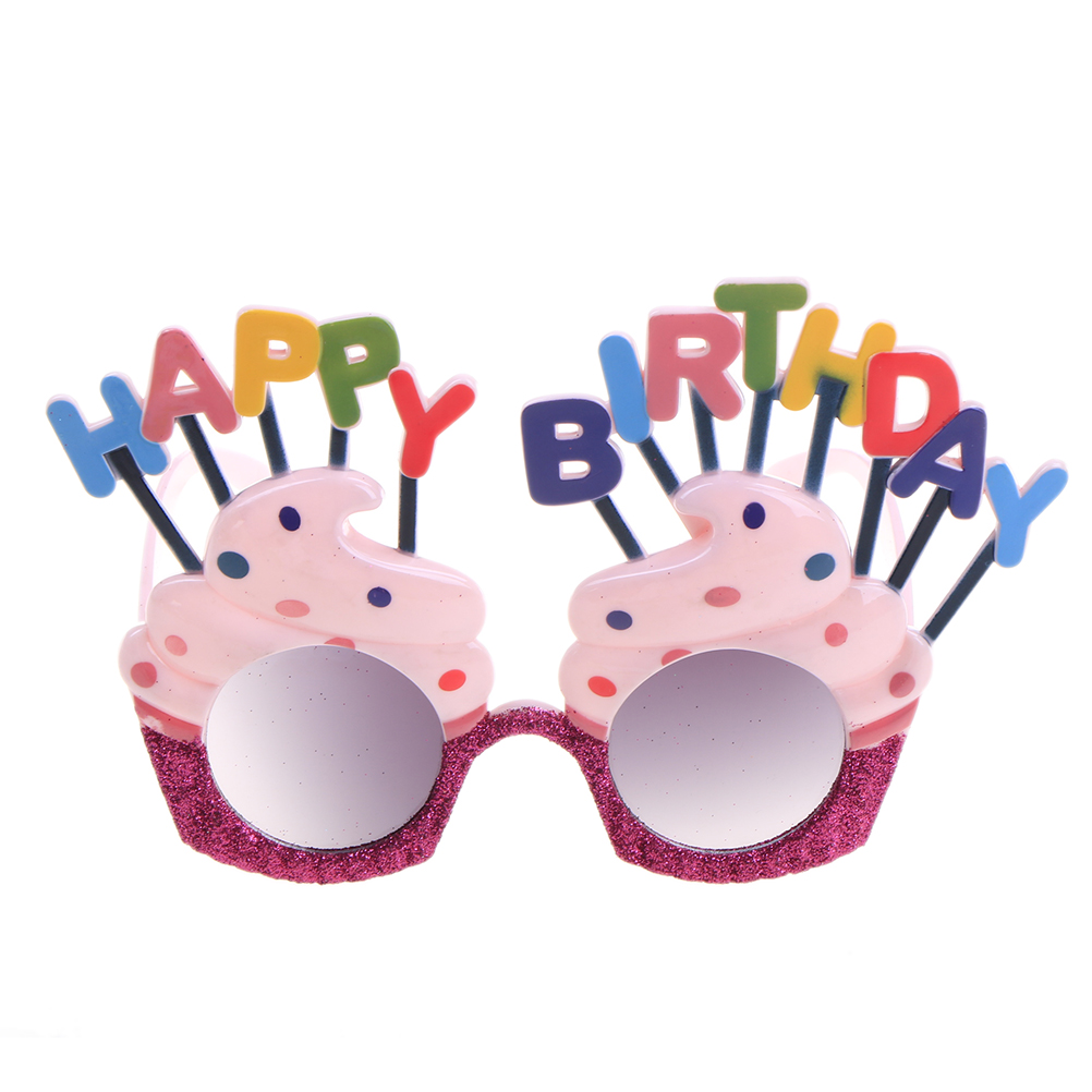 Funny Decorative Ice Cream Shaped Glasses Novelty Costume Sunglasse for Happy Birthday Gift Party Supplies Decoration