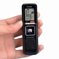 Portable 8GB 384KBPS Voice Activated 650h USB Digital Audio Voice Recorder Dictaphone Stereo MP3 Player Black Free Shipping