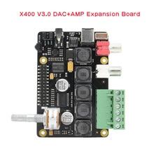 Raspberry Pi X400 I2S 오디오 확장 보드 사운드 카드, Raspberry Pi 4 모델 B/3B +/ 3B / Pi 2B / B + 용 DAC 모듈