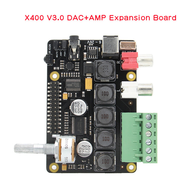 Raspberry Pi X400 I2S Âm Thanh Mở Rộng Ban Card Âm Thanh, đắc Mô Đun Cho Raspberry Pi 4 Mẫu B/3B +/ 3B/PI 2B / B +