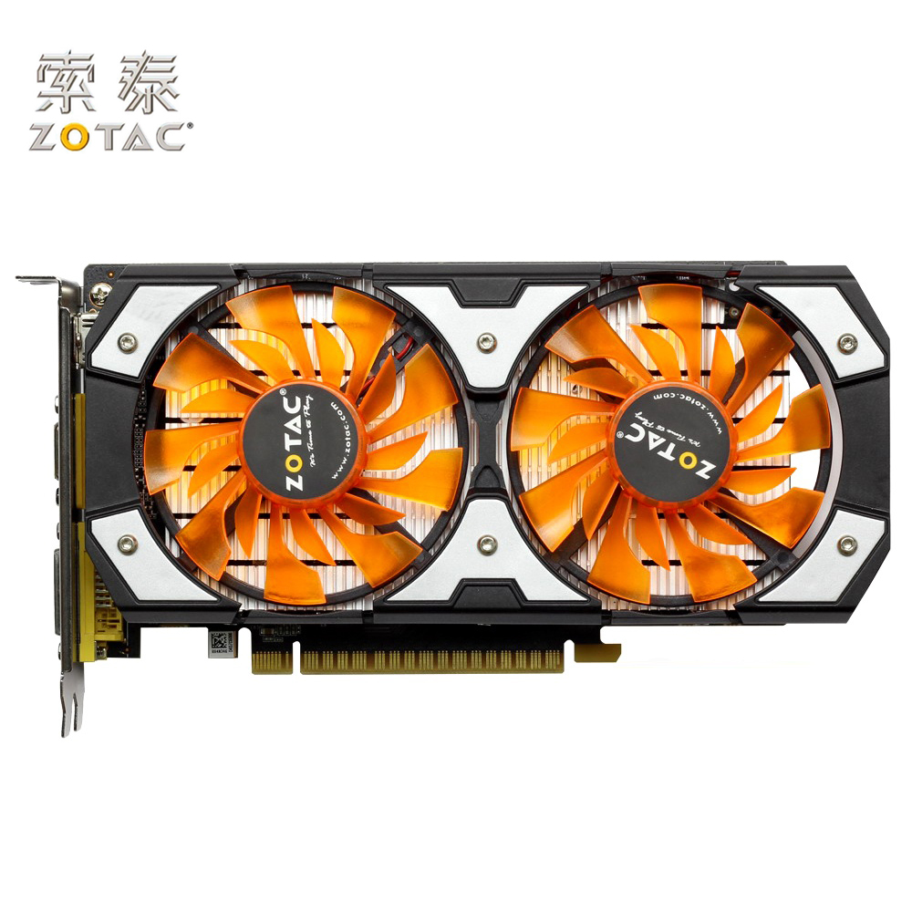 Original ZOTAC GeForce GTX 750Ti-2GD5 Graphics Cards PA For NVIDIA GT700 GTX750 2G-D5 2G Video Card 128bit GDDR5 Used GTX-750 computador cooling fan replacement for msi twin frozr ii r7770 hd 7770 n460 n560 gtx graphics video card fans pld08010s12hh