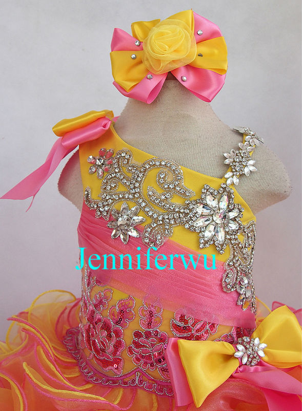 baby girl  pageant dress and formal clothes infant and toddler  prom dresses G218-4