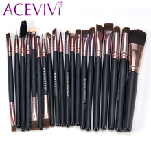 ACEVIVI 20Pcs Professional Cosmetic Makeup Brushes Set Bulsh Powder Foundation Eyeshadow Eyeliner Lip Cosmetic Brushes Maquiagem
