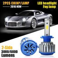 2pcs Car Lights Cars H7 Bulb 60w 6000k LED White Fog Bulb Car Head Lamp Light