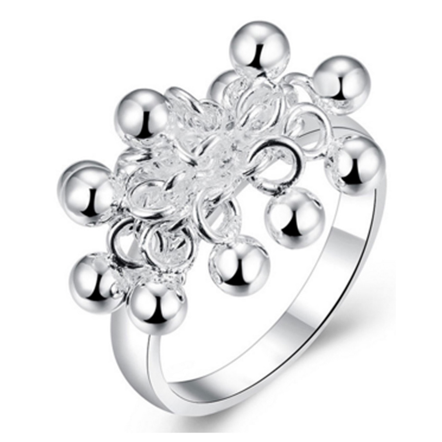 50% OFF Promotion silver Ring Grape bell style Fashion Ring classic Balls Women Party lady gf gift xmas R016 925