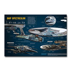 Star Trek USS Enterprise Structure Silk Poster Movie Wall Art Print 13x18 24x32 inch Decoration Pictures Living Room Decor