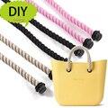 1 Par de Cânhamo Corda alças para Obag Acessórios DIY Sacos das Mulheres Bolsa de ombro Bolsa de Alça Tamanho Longo ou curto o saco accessoires