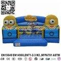 Minion inflable de salto inflables para los niños, minion inflable rebote de aire, brincolines inflables
