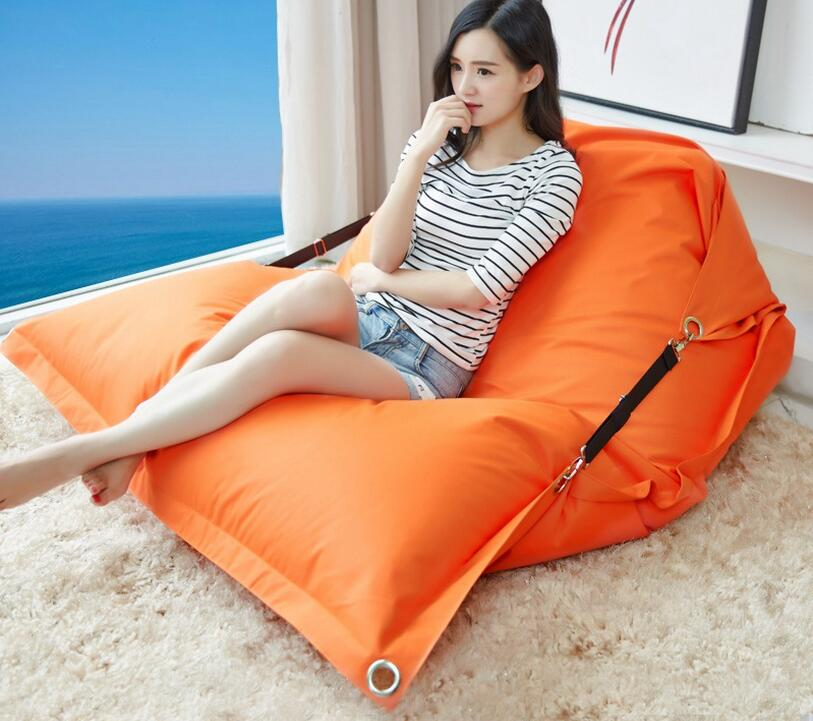 Solid color outdoor and indoor buckle bean bag , large seat home furniture , music bean bag sofa chair,COVER ONLY , NO FILLER levmoon beanbag sofa chair yellow people seat zac comfort bean bag bed cover without filler cotton indoor beanbag lounge chair