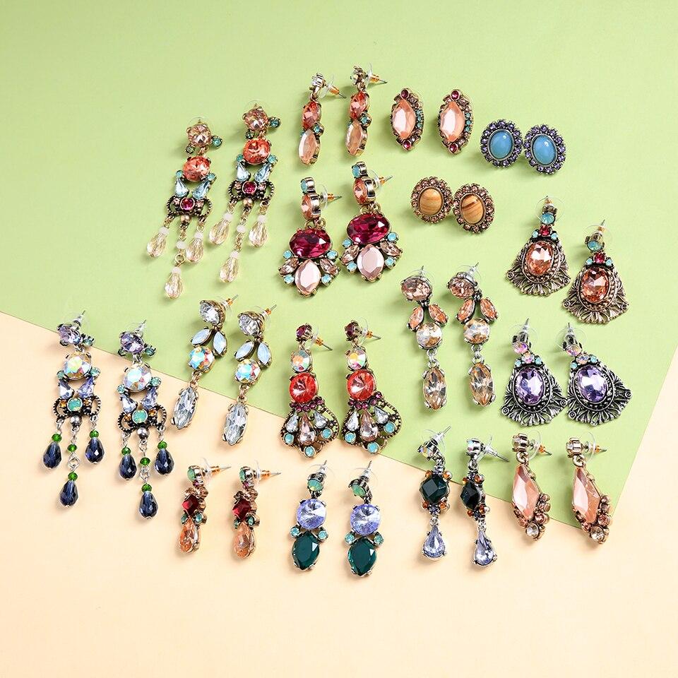 KISS ME Новая коллекция серьги для Для женщин тенденции моды акрил кристалл геометрические серьги падение себе ювелирные изделия 21 стилей