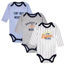 Купить с кэшбэком 3/pack Cotton Baby Bodysuits Spring Autumn Top Quality Boys Clothing Long Sleeve Underwear Infant Pajamas Clothes girls jumpsuit