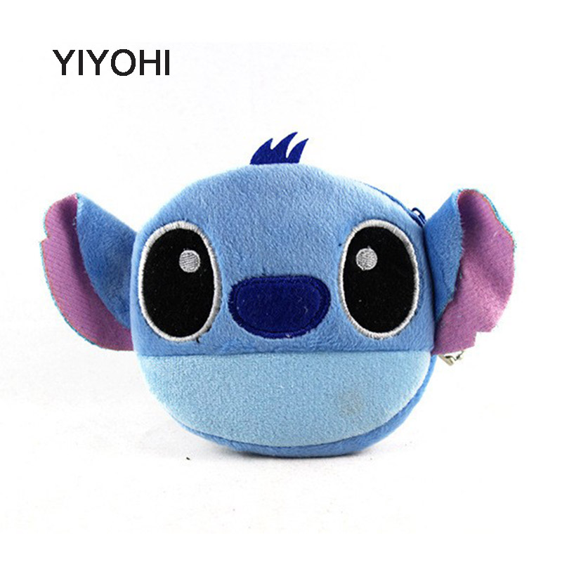 YIYOHI New Pikachu / Stitch Children Zip Coin Purse Cartoon Coin Bag Lady Cute Mini Wallet Pouch Women Girl Makeup Buggy Bag 5 pcs lot cartoon anime wallet wholesale nintendo game pocket monster charizard pikachu wallet poke wallet pokemon go billetera