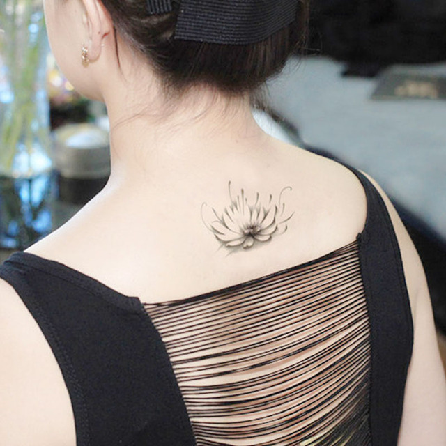 temporaire tatouages cou retour fleur de lotus maquillage faux