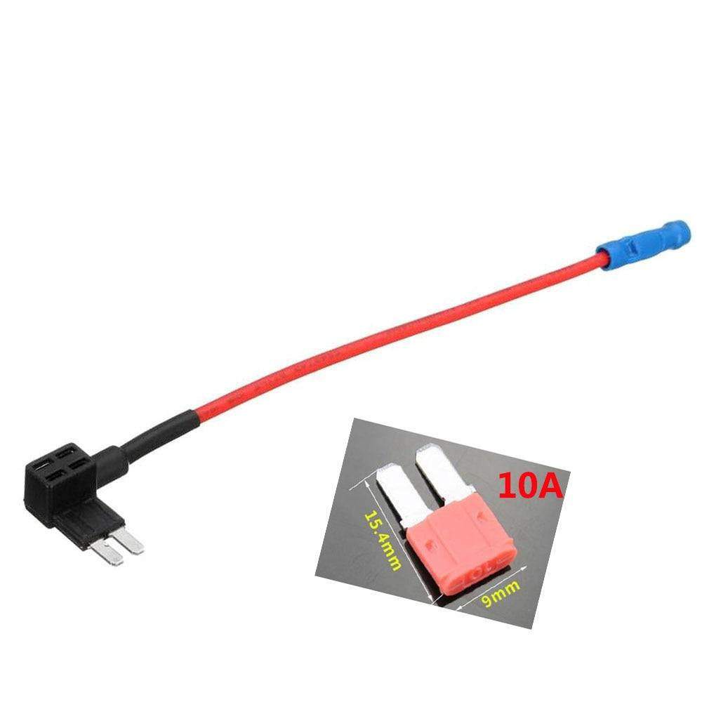 1 шт. автомобильный микро 2 адаптер предохранителя кран добавить-а-цепь электрический прибор Автомобильный лопасть держатель предохранителя для Ford, 10 а предохранитель опционально - Цвет: Темно-серый