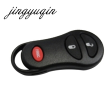 jingyuqin 3 Button Keyless Remote Key Shell Case Fob For Chrysler Voyager Cruiser For Dodge Ram Dakota Jeep Cherokee