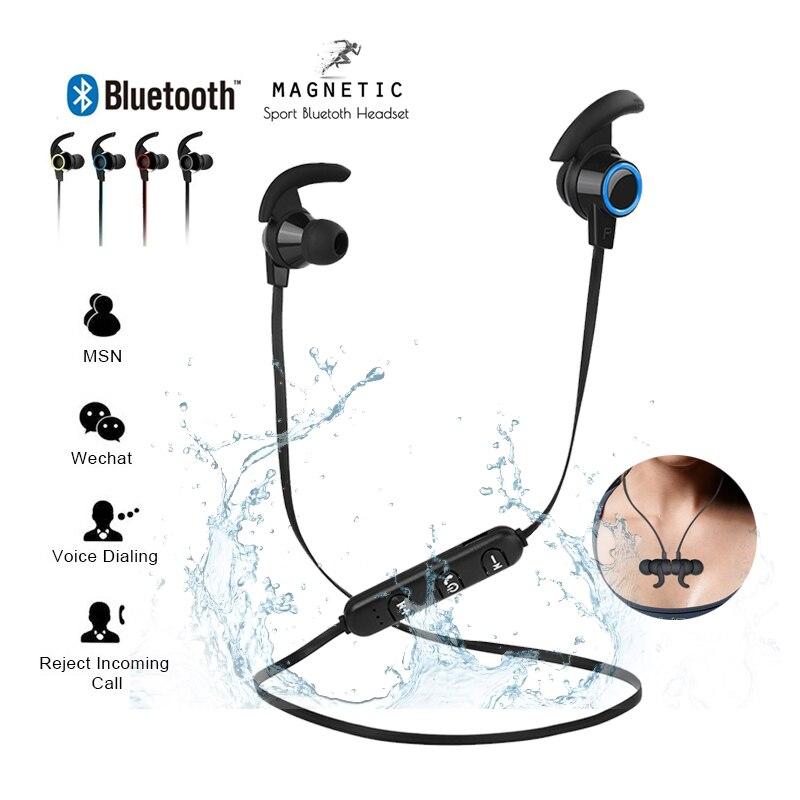 Bluetooth ספורט אוזניות אוזניות עמיד למים 4.2 משיכה מגנטית מיקרופון עבור iPhone X XS מקסימום 6 8 סמסונג S8 S9 huwai p20