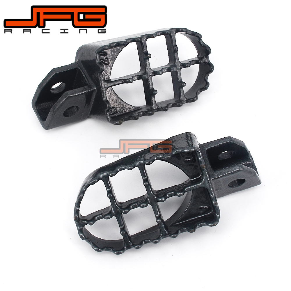 Motorcycle Foot Pegs Rests Pedals For YAMAHA YZ80 YZ125 YZ250 YZ500 WR200 WR250 WR500 XR350 XR400 XR450 XR500 Dirt Pit Bike