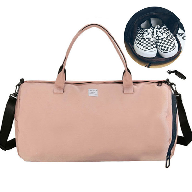 5c17ad174f1e Detail Feedback Questions about 2018 Top Female Sport Nylon Gym Bag for  Shoes Yoga Bag for Women Fitness Handbags Shoulder Bags Fancy Travel Bag VS  Pink ...
