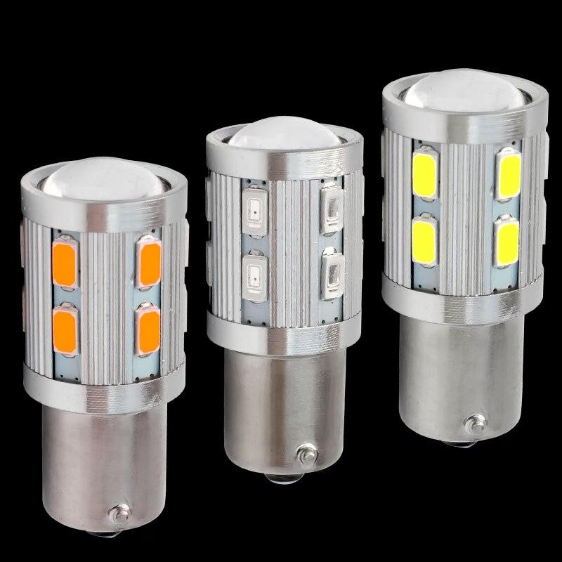 Signal Lamp Independent P21w 1156 Ba15s 7506 R5w R10w 5630 5730 Led Car Brake Lamp Reverse Bulb Auto Turn Signal Parking Drl Daytime Running Lights 12v