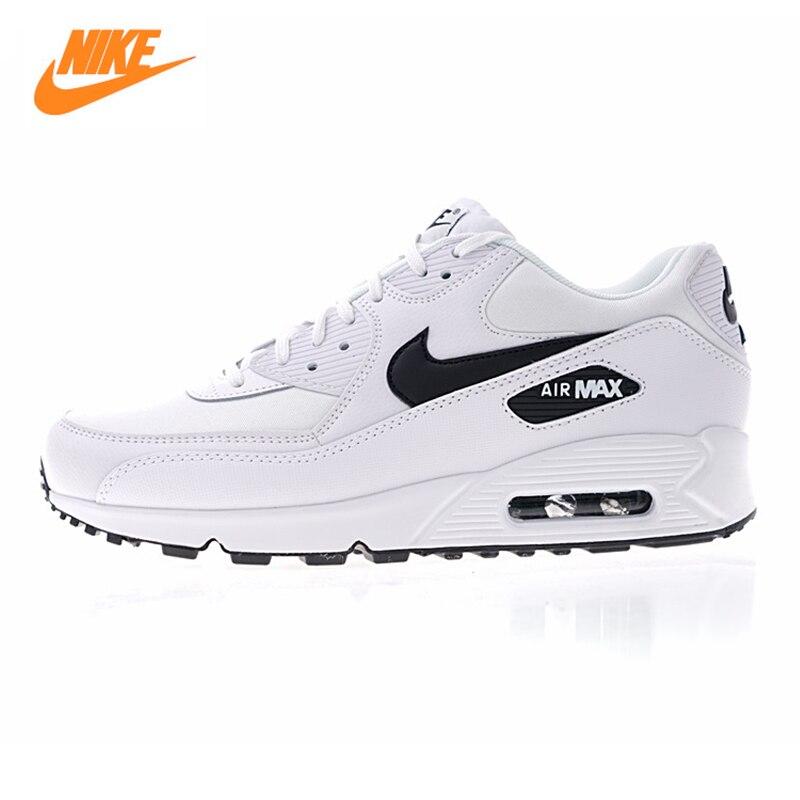 NIKE AIR MAX 90 ESSENTIAL Для мужчин и Для женщин кроссовки, белый, дышащий амортизирующие легкий 325213 131
