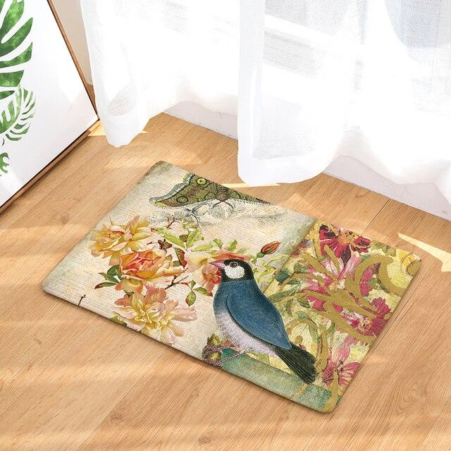 Bodenmatte Vögel Gedruckt Rutschfeste Duschmatte Bad Teppich Badematte  40x60 Cm 50x80 Cm Wc Teppiche Dekoration Teppiche Design Ideas