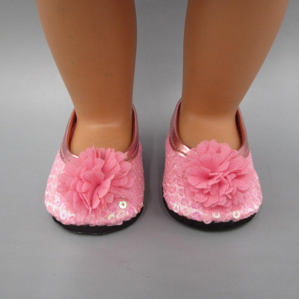 cocok 43 cm Zapf Bayi Lahir Aksesoris Boneka Sepatu boneka Merah Muda - Boneka dan mainan lunak - Foto 5