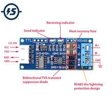 Ttl к RS485 для Arduino USB модуль преобразователя AVR 3,0 V~ 30V конвертер высокого EMC EMI 3,3 V/5,0 V сигналы аппаратное автоматическое управление