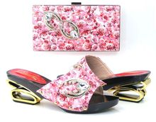 High quality African party shoes and bag to match,upper matreial italy shoes and bag set for lady wear!BK1-1