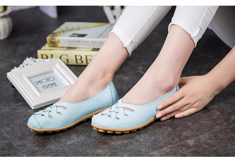 Hot Sale 2016 Spring New PU Leather Woman Flats Moccasins Comfortable Woman Shoes Cut-outs Leisure Flat Woman Casual Shoes ST181 (33)