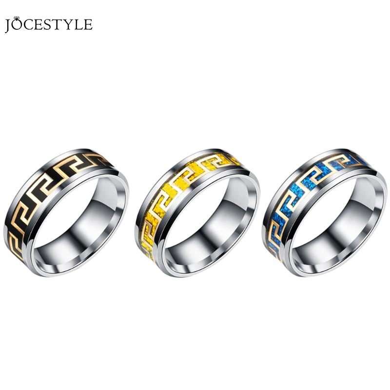 1PC/SET Buddha Titanium Steel Ring Men Jewelry Punk Vintage Stainless Steel Mens Ring Fashion Ring for Men 2018 anel Masculino