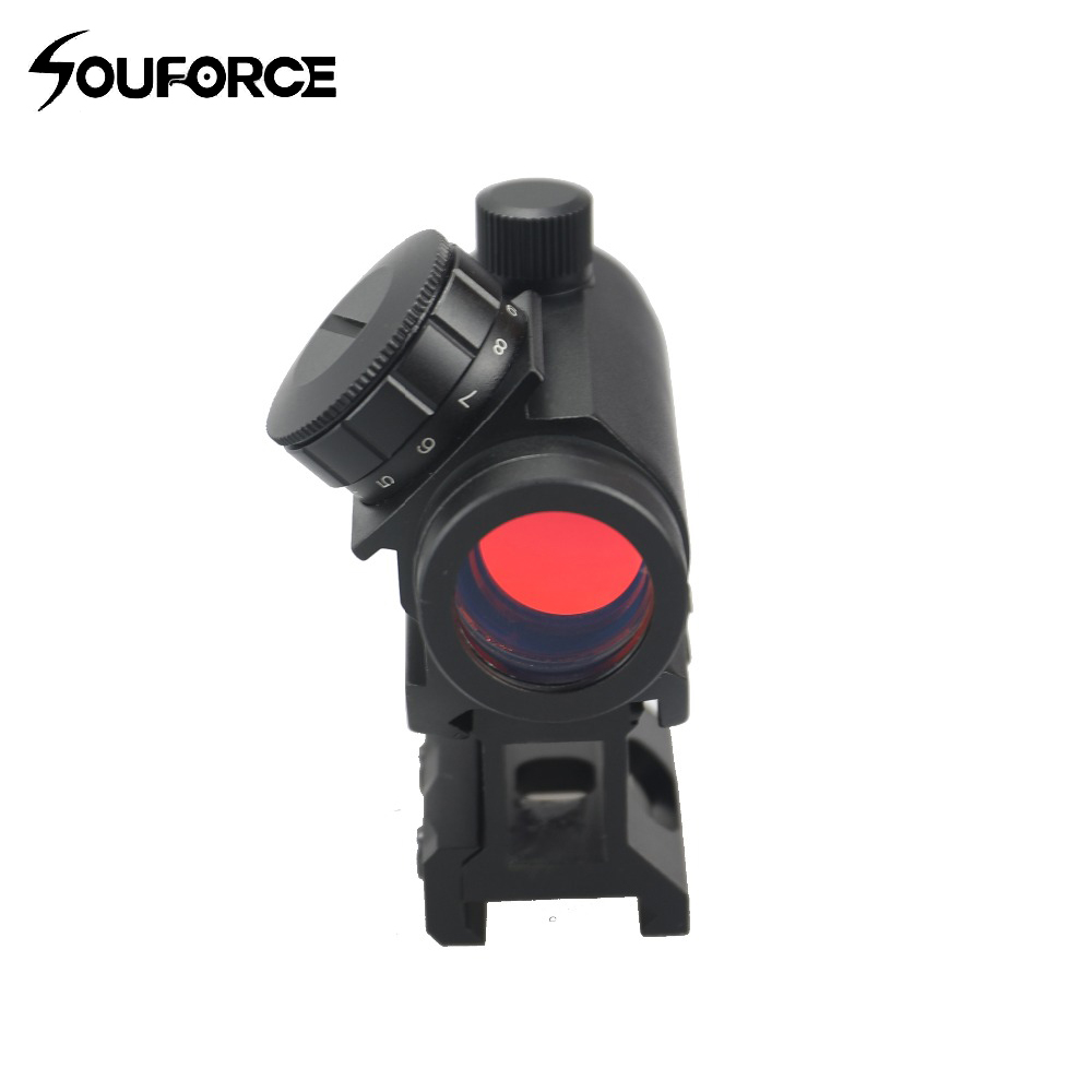 US Tactical Optics 1x28mm Red Dot Scope Sight With Low High Rail Mount For Rifles Scope Hunting