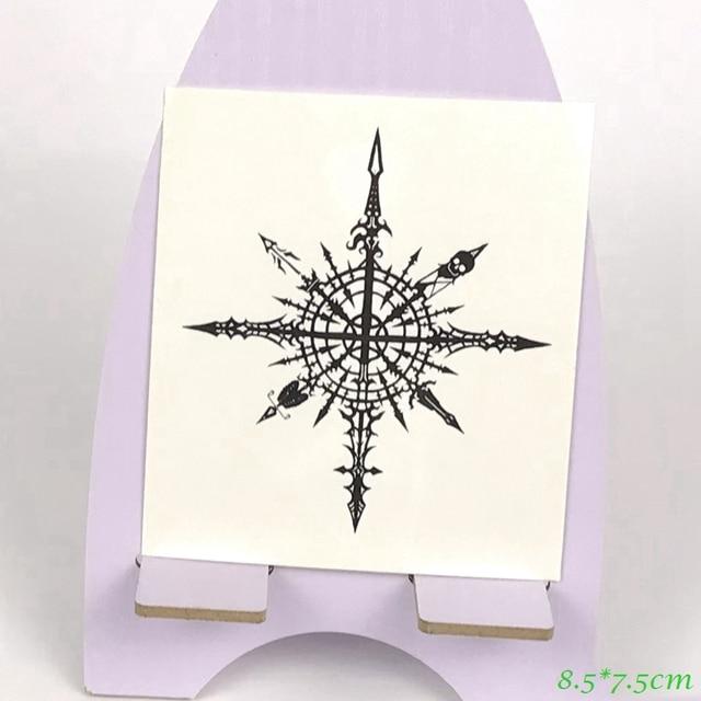 tatouage temporaire imperm able l 39 eau boussole fl che cr ne tatto autocollants flash tatoo. Black Bedroom Furniture Sets. Home Design Ideas