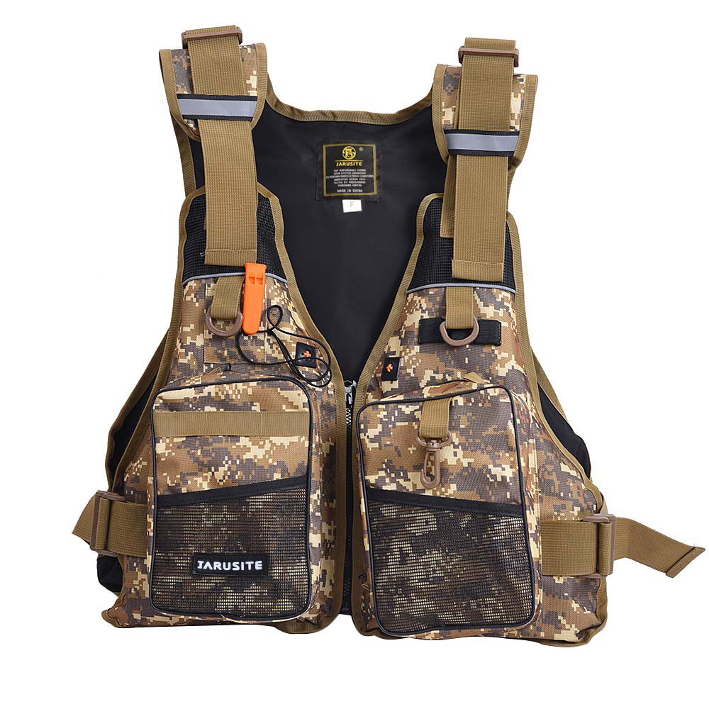 Camouflage Adult Foam Flotation Swimming Life Jacket Vest With Whistle Boating Water Fishing Safety Unisex