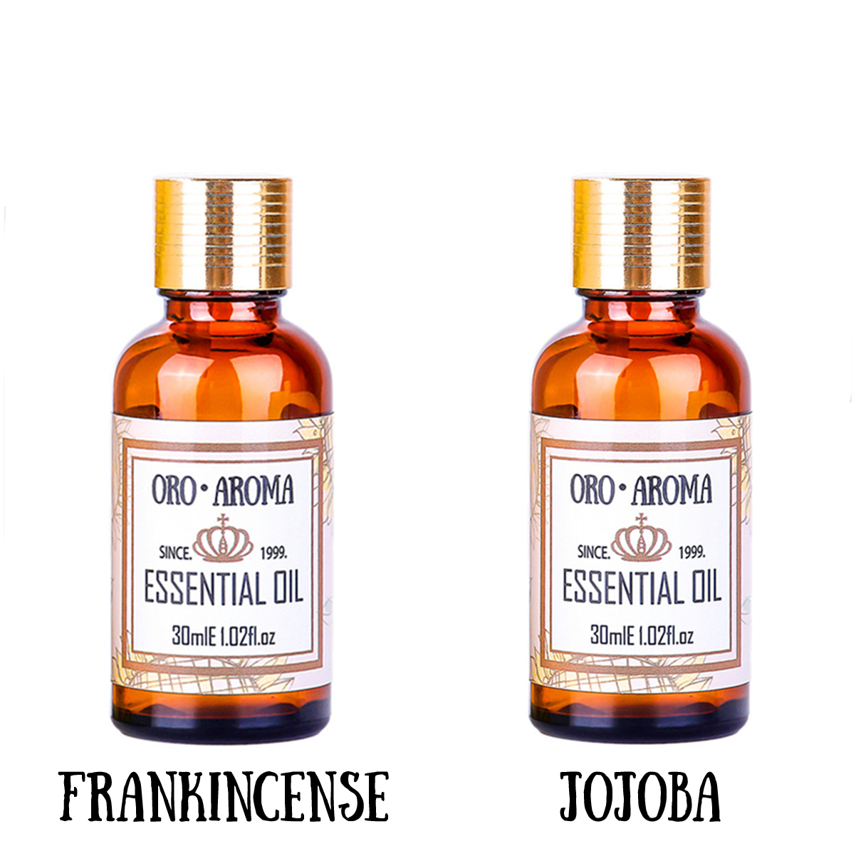 Famous brand oroaroma Anti ageing sets pure Frankincense essential oil Jojoba oil Repair wrinkles scars body Massage Oil 30ml*2 happy ageing