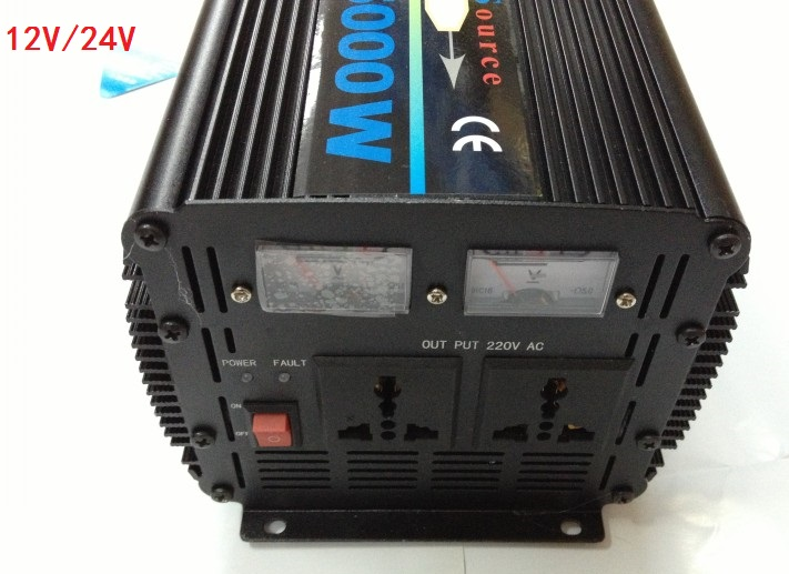 цена на 5000W modified wave inverter DC12V to AC220V/DC24V to AC220V with battery Charging UPS function